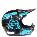 Capacete Cross Fly Flame (Preto C/ Azul)